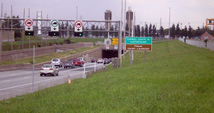 Réfection majeure du tunnel Louis-Hippolyte-La Fontaine – Entraves de fin de semaine et de nuit sur l'autoroute 25 et aux abords de l'autoroute 20