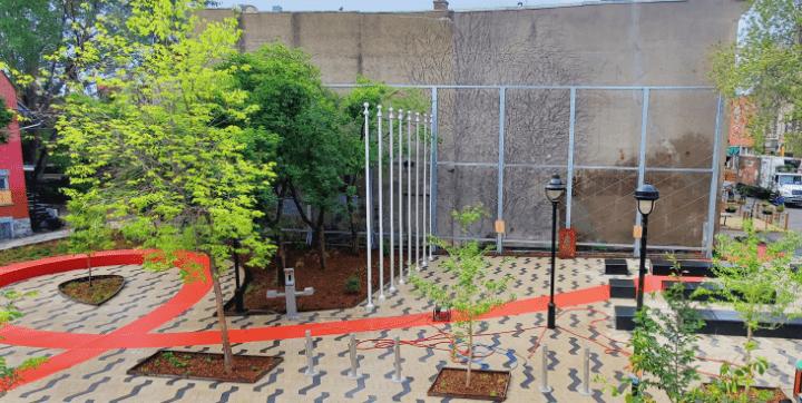 Le parc de l'Espoir: vaste, vert, accessible et propice au recueillement