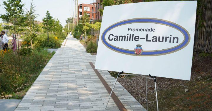 La promenade Camille-Laurin inaugurée sur le campus MIL de l'Université de Montréal