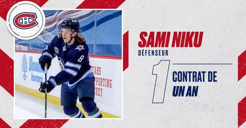 Contrat d'un an pour le défenseur Sami Niku