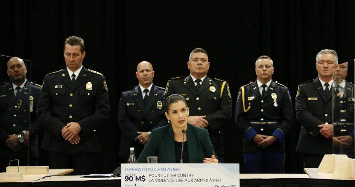 Opération Centaure – Plus de 90 M$ pour lutter contre la violence liée aux armes à feu